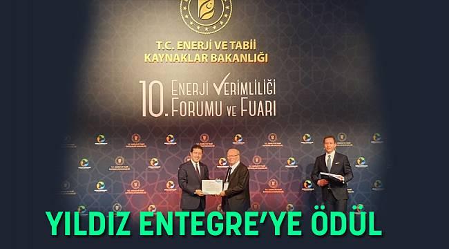 YILDIZ ENTEGRE'YE ÖDÜL