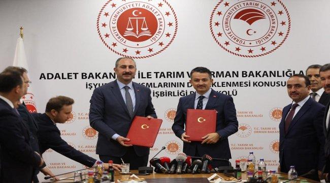 Tarım ve Orman Bakanlığı ile Adalet Bakanlığı Daha Yesil Bir Türkiye İçin İşbirliği Yapıyor.