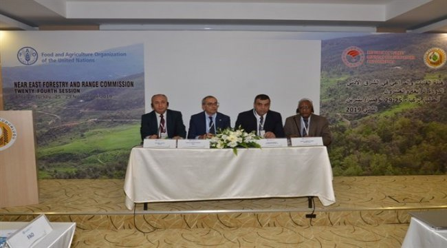 FAO, Yakın Doğu Ormancılık ve Mera Komisyonunun 24. Oturumu Antalya'da Gerçekleşiyor