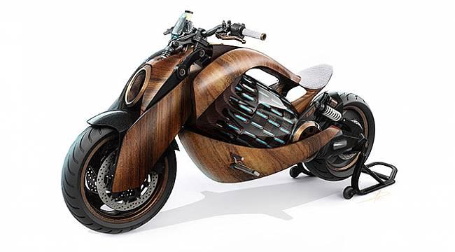 Ahşap gövdeli fütüristik elektrikli motosiklet Newron EV-1 için şaşırtan haber!