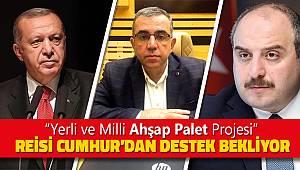 """""""YERLİ VE MİLLİ AHŞAP PALET"""" PROJESİ  REİSİ CUMHUR'DAN DESTEK BEKLİYOR"""