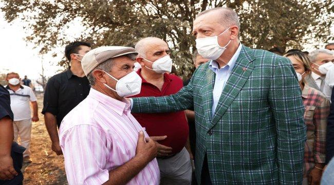 Cumhurbaşkanımız Orman Yangınlarından Etkilenen Bölgeleri Ziyaret Etti
